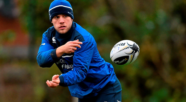 Leinster's Ian Madigan in action during squad training. Leinster Rugby Squad Training. Rosemount, UCD, Belfield, Dublin. Picture credit: Ramsey Cardy / SPORTSFILE