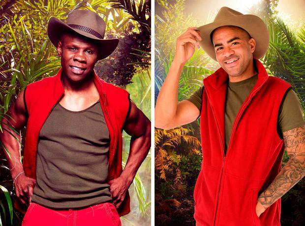 Undated handout file photos issued by ITV of Kieron Dyer (right) who announced that he was quitting I'm A Celebrity... Get Me Out Of Here!