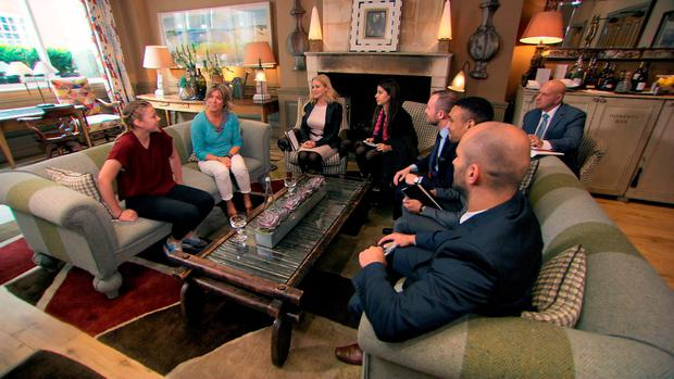 Selina Waterman-Smith, Vana Koutsomitis, Richard Woods, Scott Saunders and Brett Butler-Smythe meet their client and discuss their party as they take part in the latest challenge for the BBC1 programme