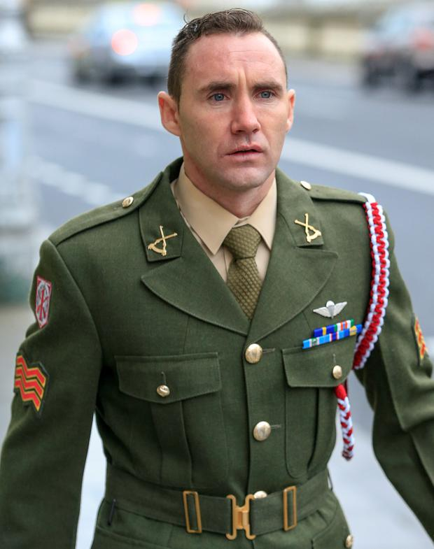 Sergeant Edmund O'Neill, from Co. Kildare, at the High Court yesterday where settled his claim for damages regarding injuries suffered as a result of an accident while serving with the Defence Forces, in the Lebanon PIC: COURTPIX