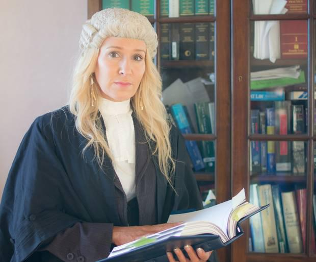 Anita Williamson-Graham in her barrister's wig and gown
