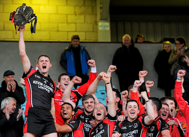 Barry Kehoe lifts the trophy after Oulart-The Ballagh's win over St Martin's in this year's county final