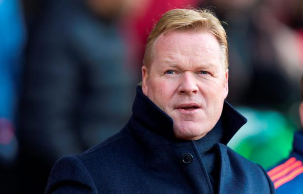 Saints manager Ronald Koeman