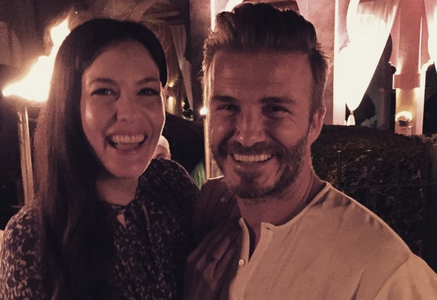 Liv Tyler poses with good friend David Beckham. Instagram