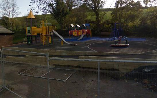 The playground in Kinallen