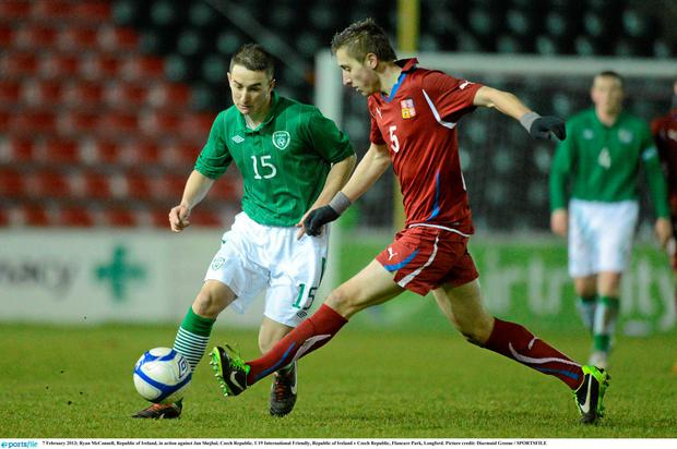 Ryan McConnell in action for Ireland