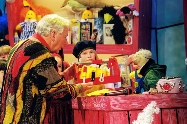 Gay Byrne and Dustin on 'Late Late' toy show (1996)