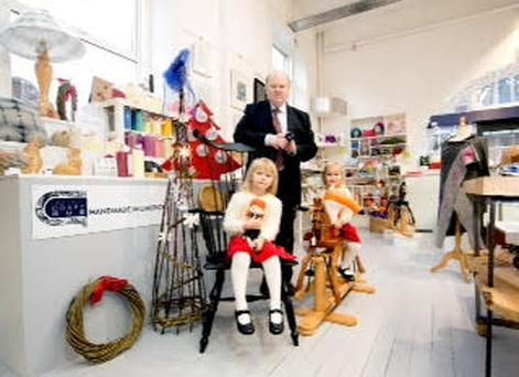 Michael Noonan, Finance Minister was on hand to launch the Christmas Celebration of Local Craft Credit: LHpublicity