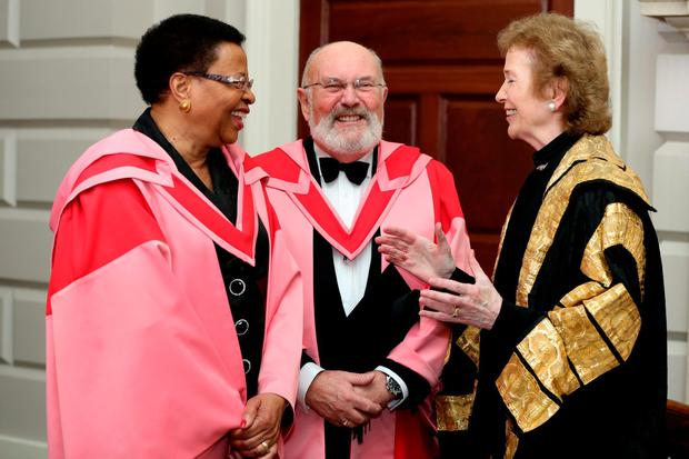 Graça Machel, David Norris and University Chancellor Mary Robinson among five to Receive Honorary Degrees at Trinity College Dublin. Pic: Maxwells