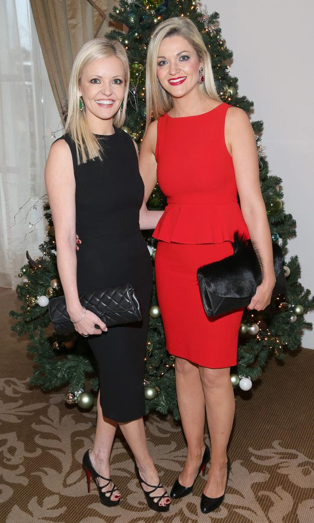 Anne Marie McManus and Vivienne Leavy at The Cari Christmas 2015 Charity lunch at the Intercontinental Hotel in Ballsbridge,Dublin. Picture :Brian McEvoy