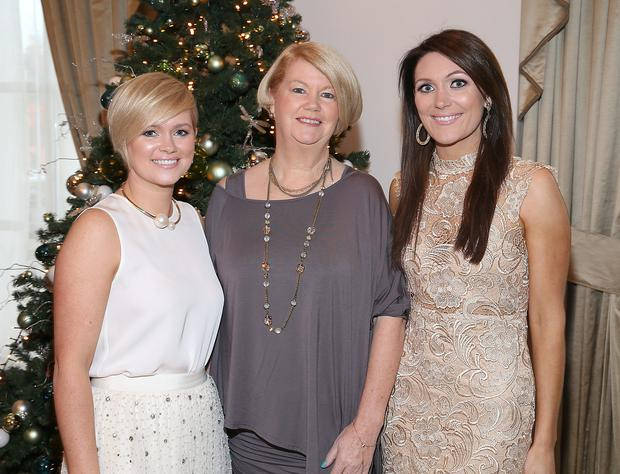 Cecelia Ahern ,Miriam Ahern and Georgina Byrne at The Cari Christmas 2015 Charity lunch at the Intercontinental Hotel in Ballsbridge,Dublin. Picture :Brian McEvoy