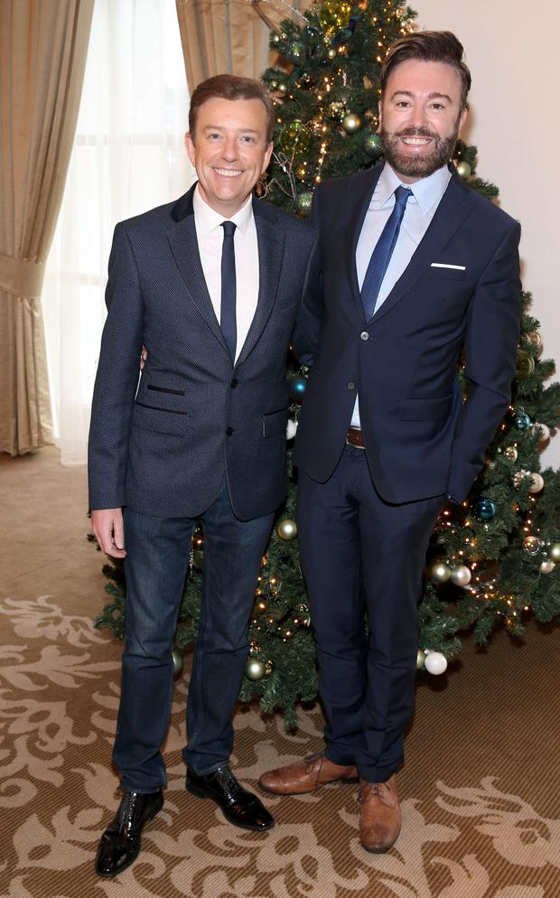 Alan Hughes and Karl Broderick at The Cari Christmas 2015 Charity lunch at the Intercontinental Hotel in Ballsbridge,Dublin. Picture :Brian McEvoy