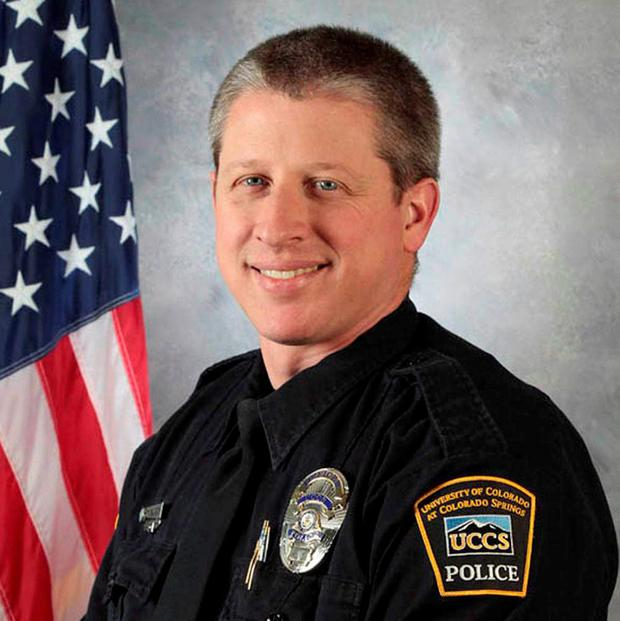 University of Colorado Colorado Springs (UCCS) police officer Garrett Swasey, who was killed when a gunman stormed a Planned Parenthood abortion clinic in Colorado Springs. REUTERS/University of Colorado Colorado Springs/Handout via Reuters