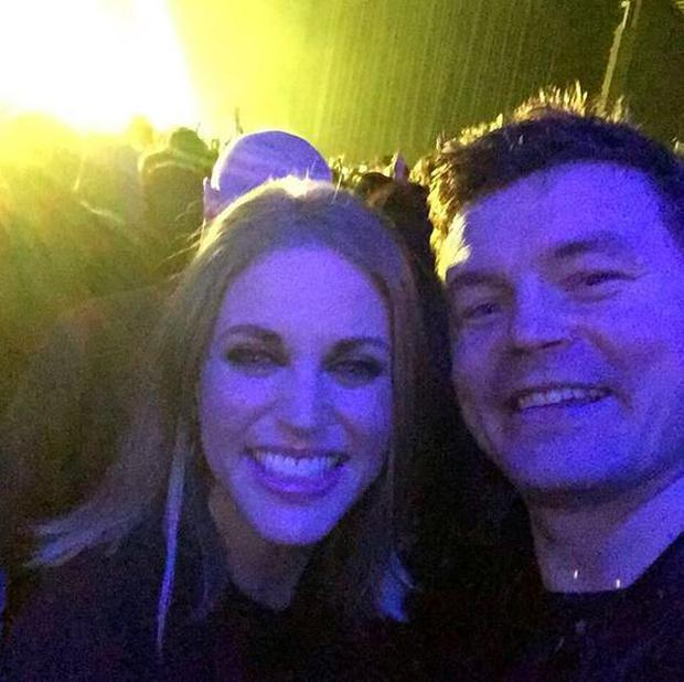 Amy Huberman and Brian O'Driscoll enjoying U2. PIC: Amy Huberman Instagram