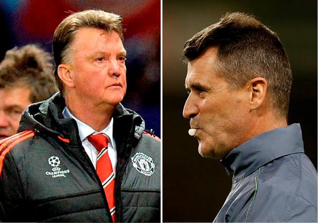 Louis van Gaal and Roy Keane