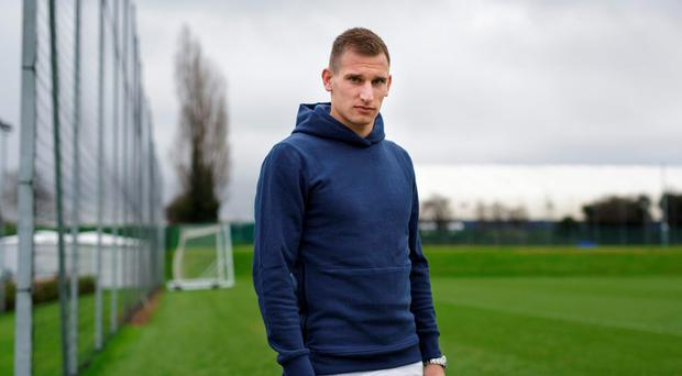Marc Albrighton at Leicester City's training ground