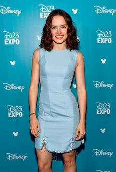 ANAHEIM, CA - AUGUST 15: Actress Daisy Ridley of STAR WARS: THE FORCE AWAKENS took part today in