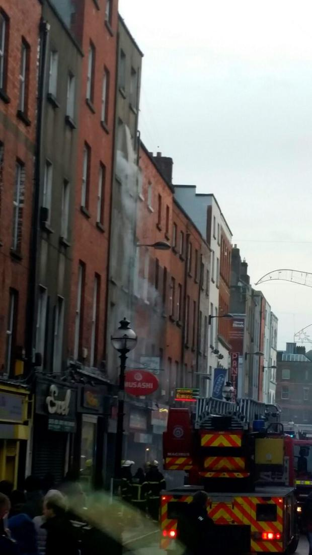 Emergency services fighting a fire on Dublin's Capel Street (Photo: Dublin Fire Brigade)