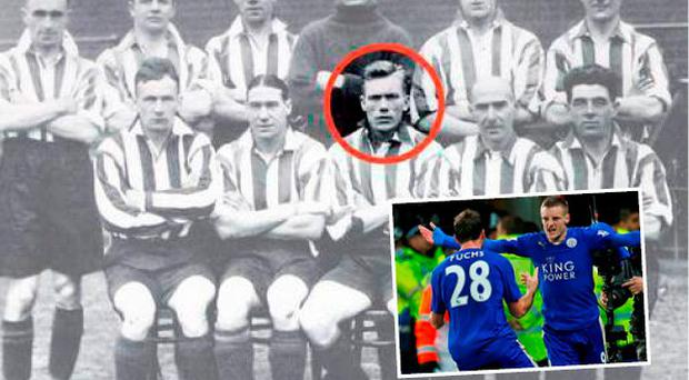 Jimmy Dunne (circled) and (inset) Jamie Vardy