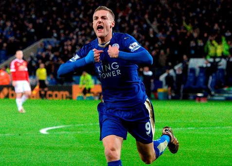 Jamie Vardy's goal for Leicester against Manchester United was a marvellous piece of work itself, never mind its historical significance