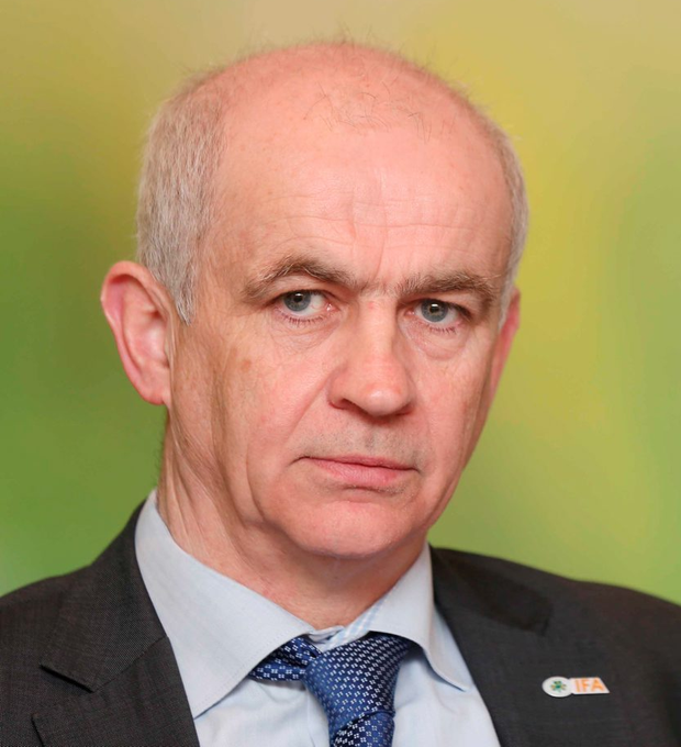 Ignominious end: Eddie Downey resigned as president of the Irish Farmers' Association on Wednesday evening