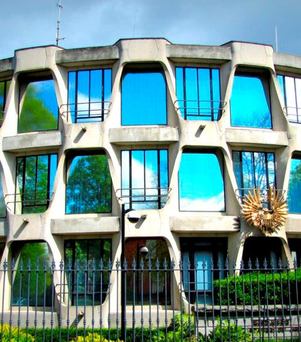 Fortress: The US Embassy in Ballsbridge has been heavily fortified for years