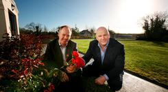 Sean Gallagher and landscaper Thomas J Crummy, Sligo