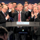 Recovery: Enda Kenny addressing the Fine Gael National Conference 2015 in Castlebar earlier this year