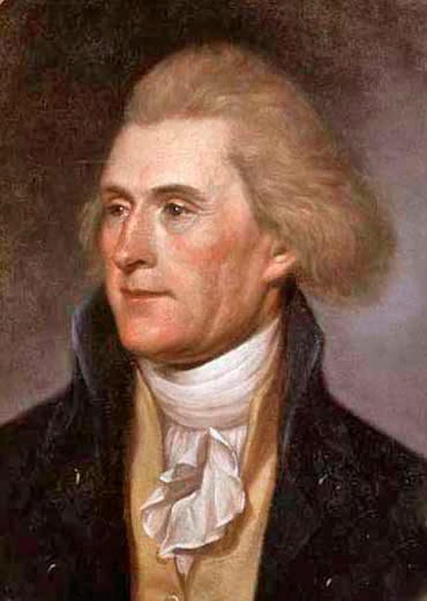 Vandals: Students at a US college are demanding the removal of a statue of Thomas Jefferson, plastering the statue with sticky notes with phrases like 'racism is a choice'