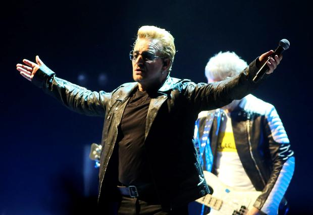 REDEMPTION: All was forgiven when Bono and Co returned to the 3 Arena last week following the album giveaway saga