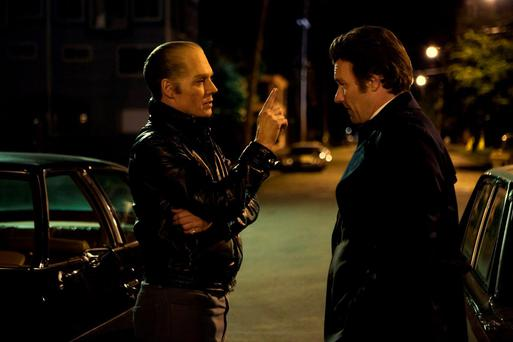 Stirring performance: Johnny Depp, playing James 'Whitey' Bulger, and Joel Edgerton in 'Black Mass'