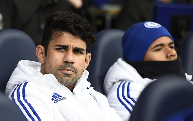 Costa did not warm up after being dropped to the bench