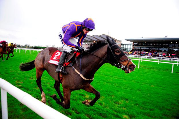 Arctic Fire, under Ruby Walsh, sprints clear of his rivals to claim the Hatton's Grace Hurdle
