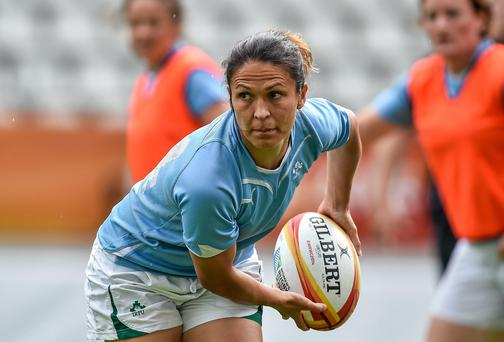 Ireland international Tania Rosser showed her class playing at out-half for Blackrock
