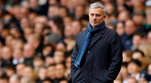 Chelsea manager Jose Mourinho left striker Diego Costa on the bench