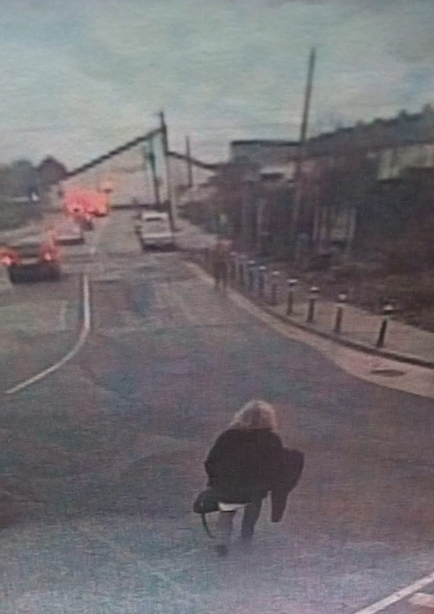 CCTV images show Enda Harris leaving Beaumont Hospital on Thursday afternoon (Photo: Independent.ie)