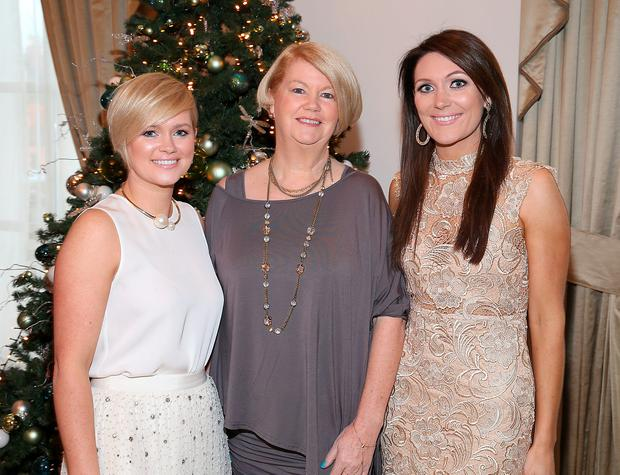 Cecelia Ahern, Miriam Ahern and Georgina Byrne at The Cari Christmas 2015 lunch at the Intercontinental Hotel in Ballsbridge, Dublin. Picture: Brian McEvoy