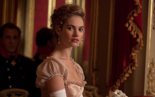 Natasha (LILY JAMES) in War and Peace. PIC: BBC