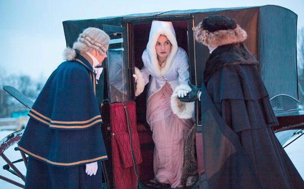 Lily James as Natasha in BBC one's adaptation of War and Peace. PIC: BBC