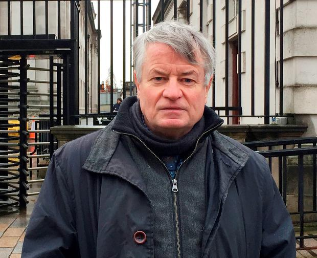 Les Allamby, Northern Ireland Human Rights Commission (NIHRC) chief commissioner, outside Belfast High Court, following a successful challenge to abortion law in the region