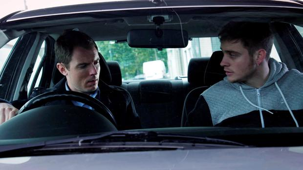 Red Rock ep 70 on TV3 - Embargoed until Monday November 16th 2015 McKay (played by Richard Flood) delivers news to Davey Webb (played by Darren Cahill) that the CHIS (Covert Human Intelligence Sources) have turned down his request to have Davey as a confidential informant. New episode airs Thursday November 26th at 8:30pm on TV3