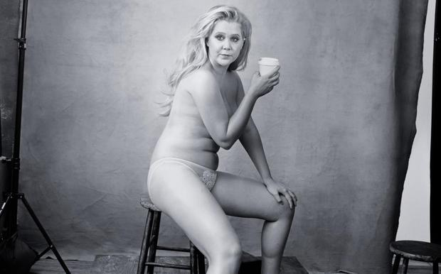 Amy Schumer in the new Pirelli calendar. Picture: Annie Leibowitz/Pirelli