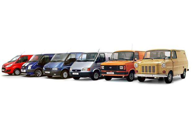 The Transit line-up throughout its 50 year history.
