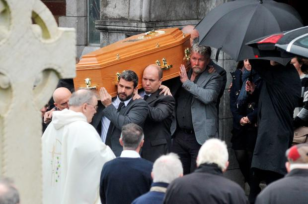 The funeral mass for the late Marian Horgan at St Joseph's Church, Cork city