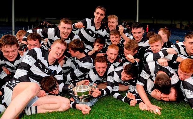 St Kieran's College celebrate after winning the Post Primary All-Ireland Senior Hurling 'A' final against Thurles CBS at Semple Stadium last April