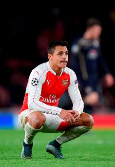 Alexis Sanchez is expected to miss Arsenal's vital Champions League game at Olympiakos next week