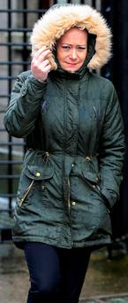 Linda O'Hora, from Hartstown, Dublin 15, leaving court. Photo: Courtpix