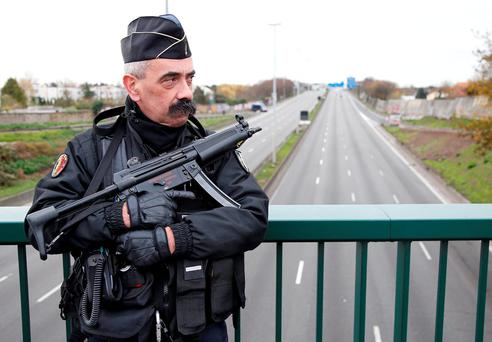 Some 2,800 armed police were at the COP 21 site at Le Bourget north of the city, with only accredited delegates allowed enter the venue