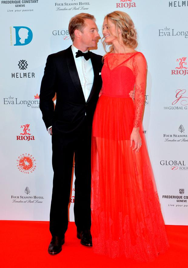 Ronan Keating and Storm Keating attend The Global Gift Gala at Four Seasons Hotel on November 30, 2015 in London, England. (Photo by Anthony Harvey/Getty Images)