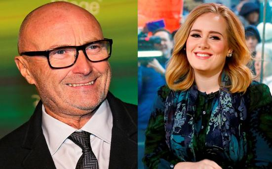 Phil Collins (left) and Adele (right)